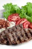 Типичная тарелка Бразилии, риса и фасолей Стоковые Изображения