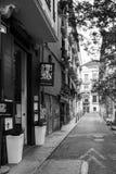 Типичная улица центра старого городка Валенсии Стоковое Фото