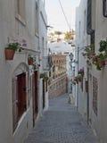 Типичная улица Mojacar Альмерии стоковые изображения rf