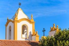 Типичная церковь в городке Luz Стоковое Изображение RF