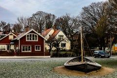 Типичная шведская деревня Стоковое фото RF