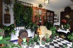 Типичное патио в Cordoba, Испании стоковая фотография rf