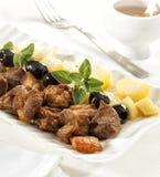 Типичное португальское блюдо свинины Стоковая Фотография