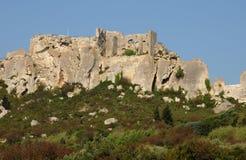 Типичные ландшафты Les-Baux-de-Провансали Стоковое Изображение
