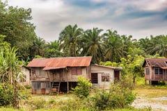 Типичные дома семьи в Малайзии Стоковые Изображения