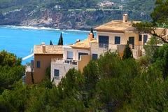 Типичные испанские дома Стоковые Фотографии RF