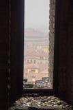 Типичные красные крыши болонья Взгляд от башни Asinelli Эмилия-Романья, Италия Стоковые Фотографии RF