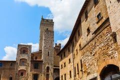 Типичные дома башни San Gimignano, Италии Стоковые Фото