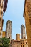 Типичные дома башни San Gimignano, Италии Стоковая Фотография