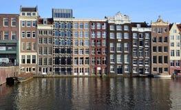 Типичные дома канала Стоковое Фото