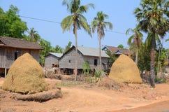 Типичные дома на ходулях Стоковое Фото