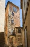 Типичные старые каменные дома в деревне Gordes, Воклюз, Провансаль, Стоковое Изображение RF