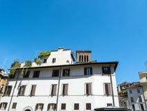 Типичные таунхаусы в Риме Италии Стоковое Изображение