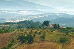 Типичный ландшафт Умбрии Стоковая Фотография RF