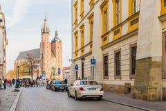 Типичный взгляд в старом городке в Краков стоковое фото rf