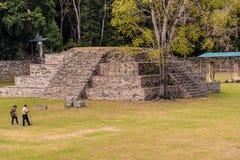 Типичный взгляд на руинах Copan в Гондурасе стоковые изображения
