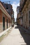 Типичный взгляд улицы в Гаване Стоковое Изображение RF