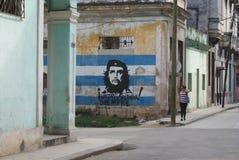 Типичный взгляд улицы в Гаване Стоковое фото RF