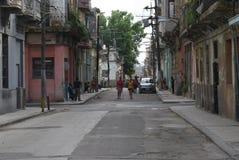 Типичный взгляд улицы в Гаване Стоковые Изображения RF