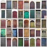 Типичный винтажный деревянный коллаж дверей Стоковые Фото