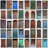 Типичный винтажный деревянный коллаж дверей Стоковые Фотографии RF
