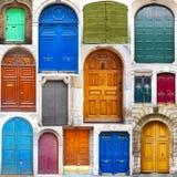 Типичный винтажный деревянный коллаж дверей Стоковое Изображение