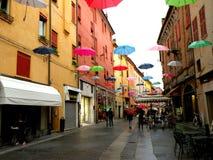 Типичный городской ландшафт в Ферраре, Италии Стоковая Фотография