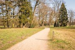 Типичный голландский ландшафт весны в марте около Delden Twente, Оверэйсела Стоковые Фотографии RF