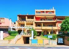 Типичный дом в провинции южной Сардинии Villasimius Cagliary стоковые фотографии rf