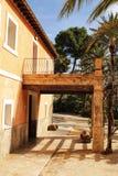 Типичный и красочный дом в саде ладони в Elche, Испании Стоковое Изображение
