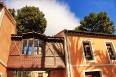 Типичный и красочный дом в саде ладони в Elche, Испании Стоковое Фото