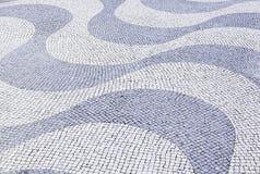Типичный каменный пол Лиссабона Стоковое Фото