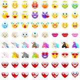 Типичный комплект современного Emojis иллюстрация вектора