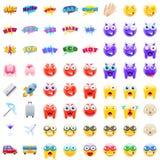 Типичный комплект современного Emojis бесплатная иллюстрация