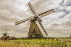 Типичный ландшафт голландской сельской местности Oterleek Нидерланд Голландия стоковые фотографии rf