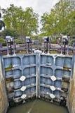 Типичный механизм замка канала du Midi Стоковое фото RF