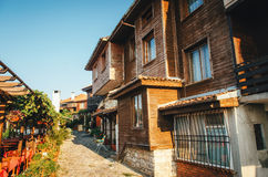 Типичный дом в древнем городе Nessebar, Болгарии стоковое изображение rf