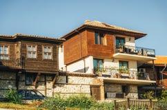 Типичный дом в древнем городе Nessebar, Болгарии Стоковое Изображение