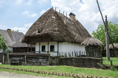 Типичный дом в традиционных деревнях - под открытым небом музей стоковое изображение rf