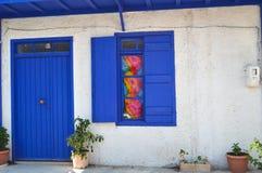 Типичный дом в Mirtos Стоковые Изображения RF
