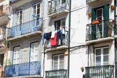 Типичный дом Лиссабона, столица, Португалия стоковые фотографии rf