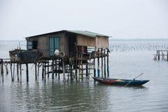 Типичный дом на море Lang Co, оттенке, Вьетнаме Стоковая Фотография RF
