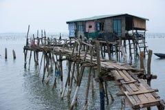 Типичный дом на море Lang Co, оттенке, Вьетнаме Стоковые Фотографии RF