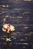 Типичный романтичный букет роз, плоское изображение положения Стоковые Изображения