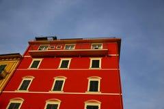 Типичный среднеземноморской фасад в утре Стоковая Фотография RF