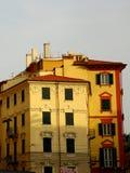 Типичный среднеземноморской фасад в утре Стоковое Фото