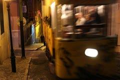 Типичный трамвай Лиссабона, Португалия, Европа Стоковая Фотография