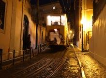 Типичный трамвай Лиссабона, Португалия, Европа Стоковые Изображения