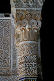 Типичный Berber украсил столбец на qasba ` s Tobius в Марокко после дождя Стоковая Фотография