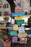 Типичный handmade шильдик еды Стоковые Фотографии RF